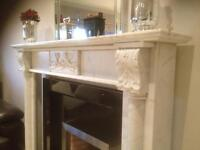 Period Solid marble Fireplace Surround ,