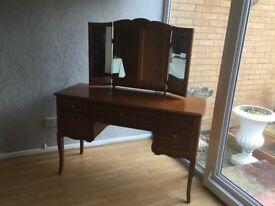 Antique American Pine Bedroom collection - Dressing Table, Tall Boy and Wardrobe