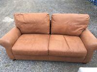 John Lewis soft leather three seater sofa RRP £1199.99