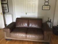 2 Natuzzi Brown Leathers sofa's from Barker & Stonehouse.