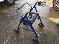 4 Wheeled Folding Walker - Mobility - Days Healthcare