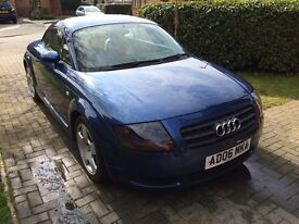 Audi TT, low mileage in great condition. Must be seen. First to view will buy.