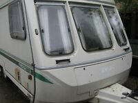 Touring caravan with nearly new full size awning.Make an Offer