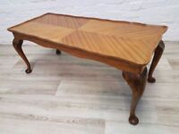 Queen Anne Style Coffee Table (DELIVERY AVAILABLE FOR THIS ITEM OF FURNITURE)