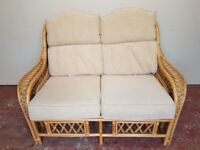 2 seater wicker sofa (delivered free)