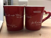 """Red """"I love you"""" mugs with multi-language"""