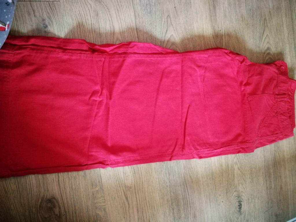 Next Women's red linen trousers size 16