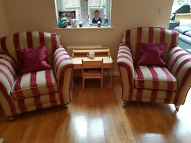 2 matching armchairs made by alston