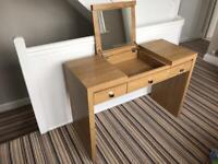 Next Oak Effect Dressing Table.
