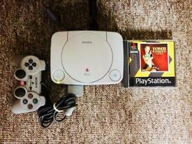 PS1 Console (one controller&Tomb Raider two)