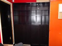 Storage units. Excellent condition. Strong, well made. Black