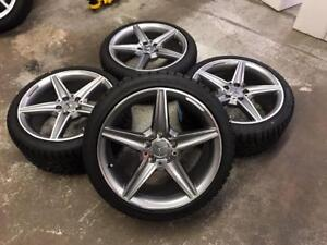 """18"""" Mercedes Wheels 5x112 and Winter Tire Package (Mercedes Cars) Calgary Alberta Preview"""