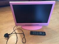 Pink LCD TV with remote 19""