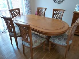 Indonesian Dining Table and 6 Chairs
