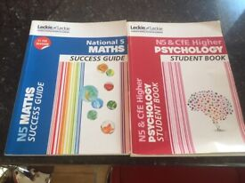 National 5 study guides Maths/psychology