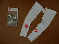 Castelli Lycra Arm Warmers - White - Size XL Brand New Never Worn