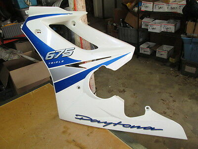 Triumph OEM Left Side Upper Fairing Panel Cowel 675 Daytona Triple 2307520