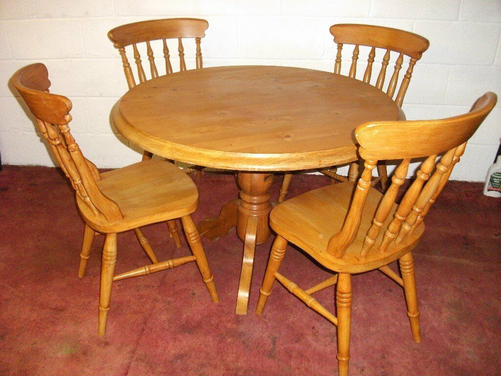 Solid Pine Dining Table and 4 Chairs | in Southampton ...