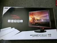 Gaming monitor with box and receipt