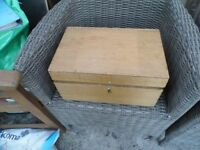 hinged wooden box with compartments
