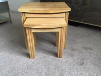 Oak furniture side tables