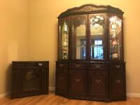 Mahogany Glass Panelled Display Cabinet