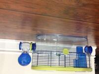 Small animal cage and saucer