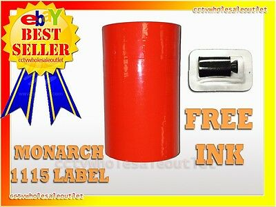 Fluorescent Red Label For Monarch 1115 Pricing Gun 1 Sleeve10rolls