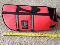 Dog life-vest hardly used