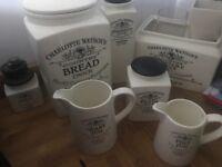 HENRY WATSON POTTERIES - Charlotte Watson country kitchen storage ... large variety of items