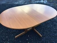 Danish design solid wood drop leaf table in like new condition
