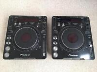 2x Pioneer CDJ1000 Mk3 Cd Mixing Decks