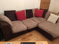 Brown Corner Sofa For Sale - Great Price! Now only £65 - Reduced price!