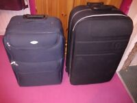 2 TROLLEY SUITCASES
