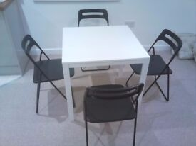 Ikea MELLTORP Table + 4 x NISSE chairs