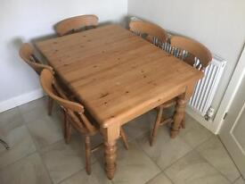 Pine Extending Table and Chairs