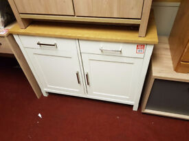 Romantic two tone small sideboard - White and Oak