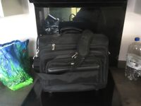 Laptop and overnight bag on wheels