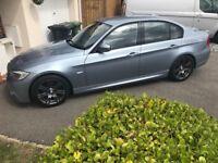BMW 320d M Sport metallic blue excellent condition.