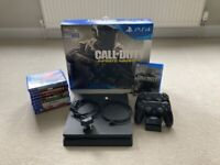 * new price* Boxed PS4 Slim, 2 Controllers, 10 Games.