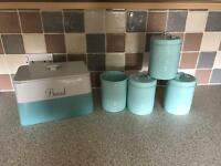 Bread bin and cannisters set