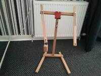 Two cross stitch stands