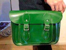 Green Classic Satchel from the Cambridge Satchel Company 11 INCH