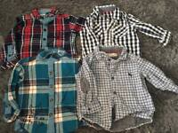 4 baby boys shirts - 3-6 months