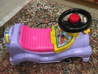 Toddler's plastic car