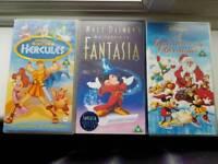 3 x Disney VHS