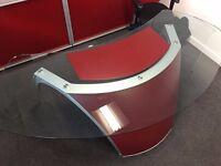 Uffix Pininfarina Italian glass meeting table AND executive desk