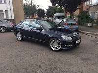Mercedes Benz c200cdi semi- auto blue efficiency 2012. Top of the range New 1 year mot 2 owners
