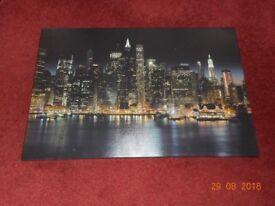 Large Canvas Print New York Skyline At Night