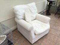 Armchair, good size, without loose cover,